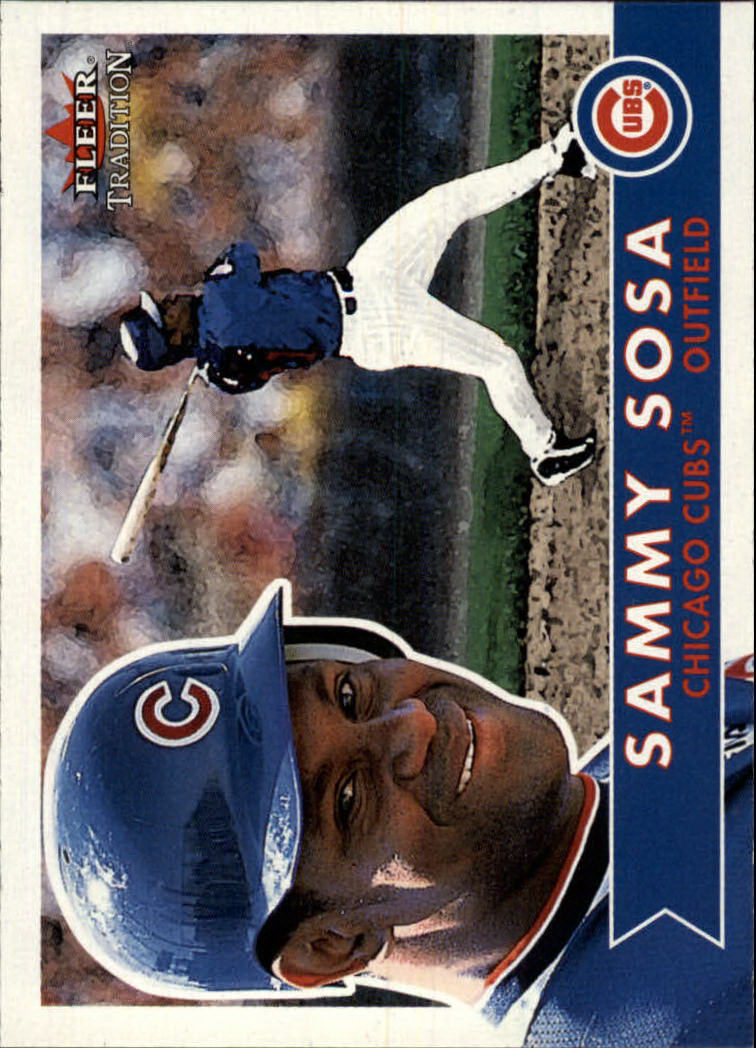 2001 Fleer Tradition #259 Sammy Sosa