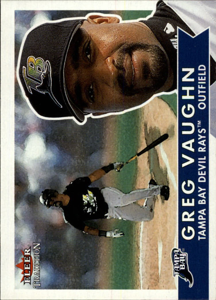 2001 Fleer Tradition #317 Greg Vaughn