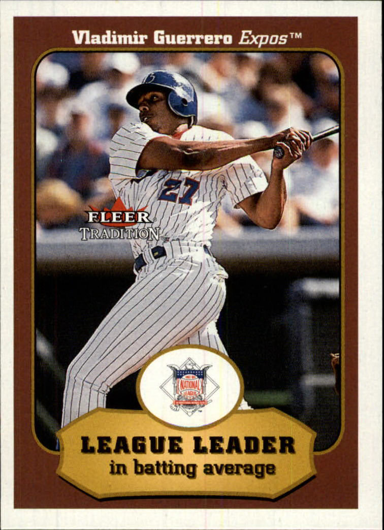 2001 Fleer Tradition #383 Vladimir Guerrero LL