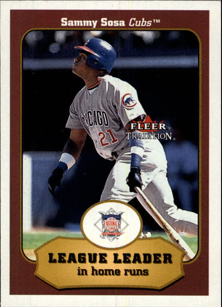 2001 Fleer Tradition #391 Sammy Sosa LL front image