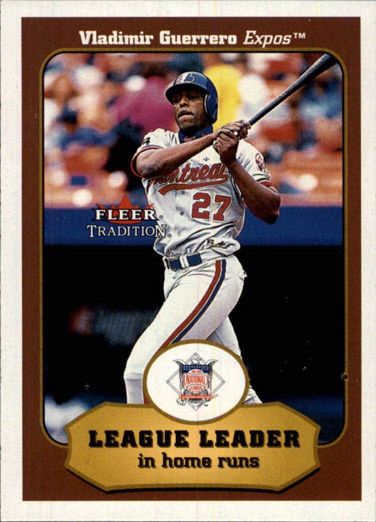 2001 Fleer Tradition #395 Vladimir Guerrero LL