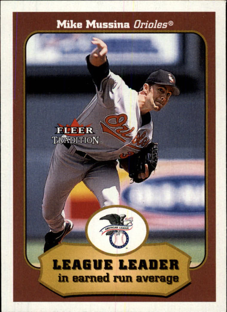 2001 Fleer Tradition #409 Mike Mussina LL front image