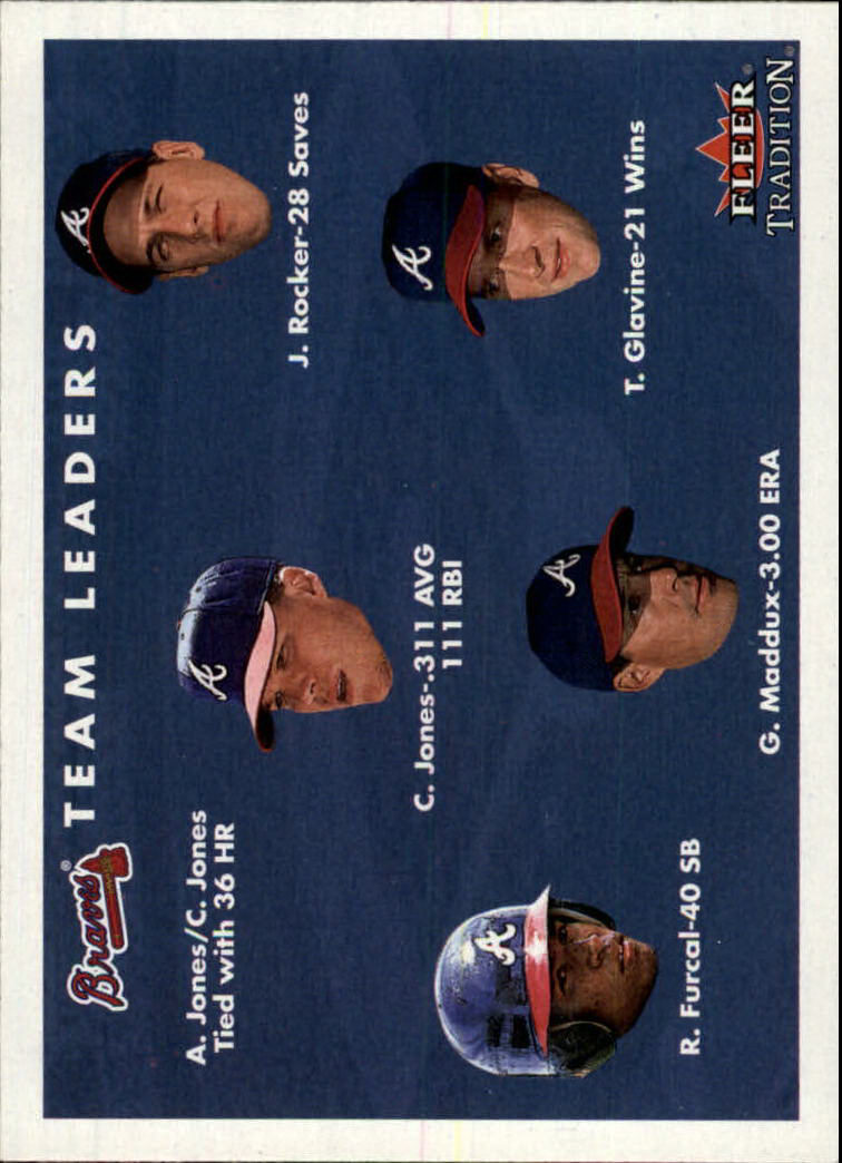 2001 Fleer Tradition #421 Atlanta Braves CL