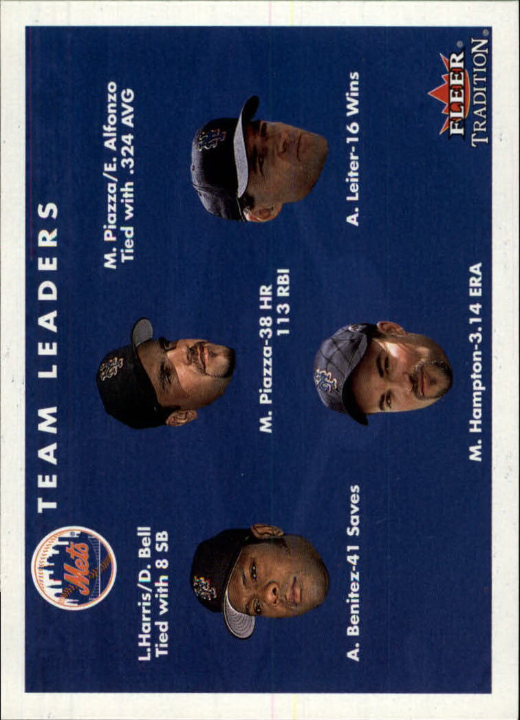 2001 Fleer Tradition #422 New York Mets CL
