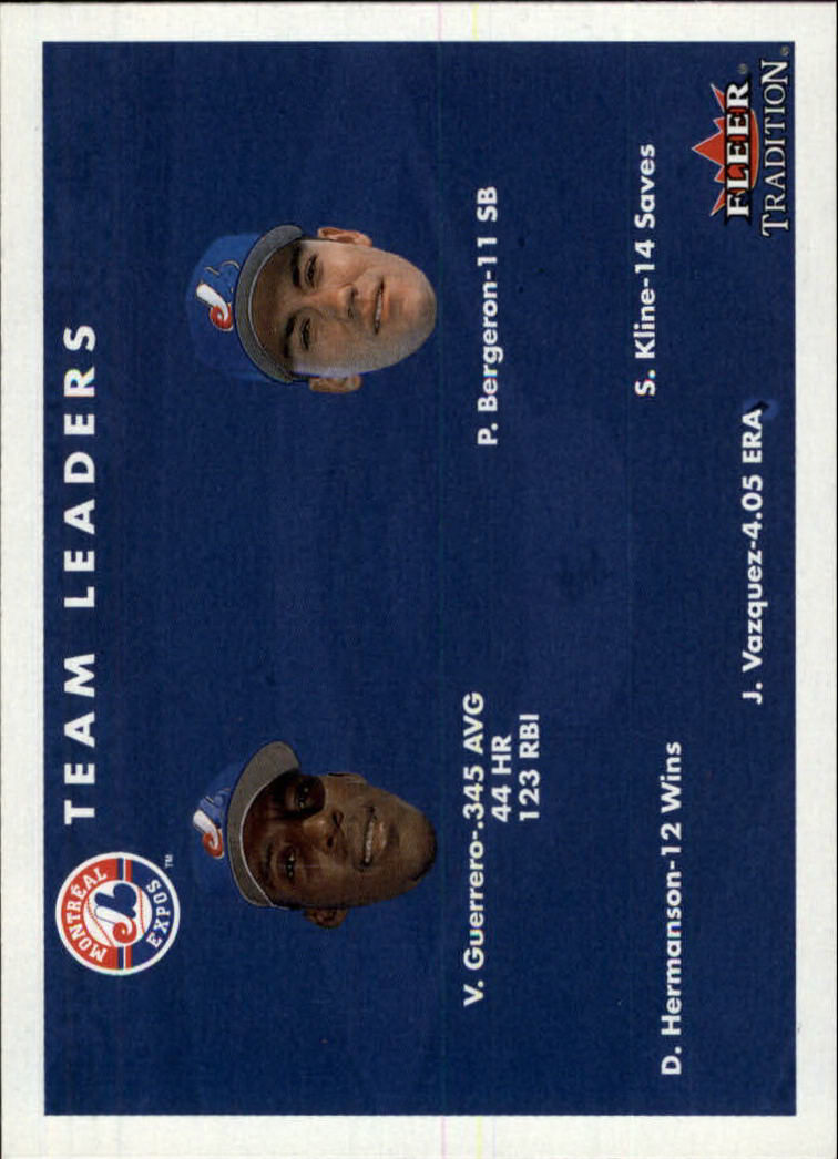 2001 Fleer Tradition #425 Montreal Expos CL