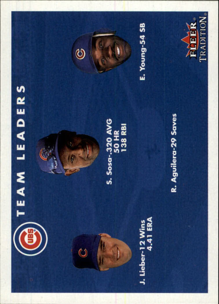 2001 Fleer Tradition #428 Chicago Cubs CL front image