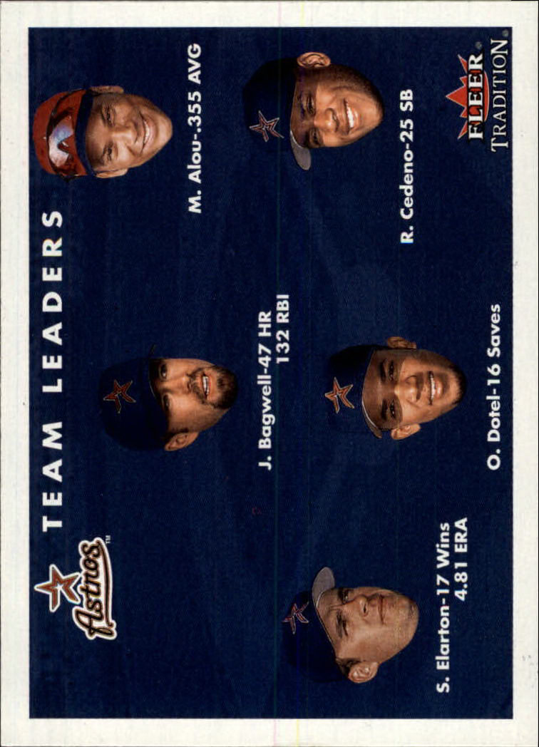 2001 Fleer Tradition #430 Houston Astros CL