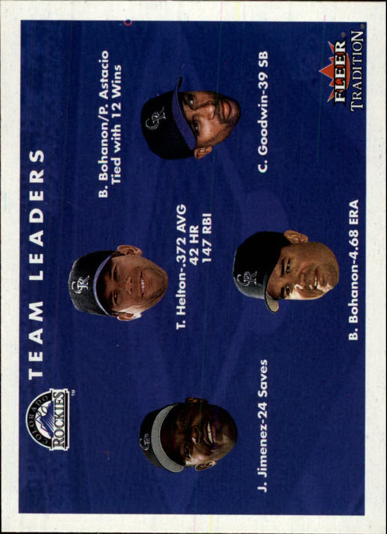 2001 Fleer Tradition #435 Colorado Rockies CL UER