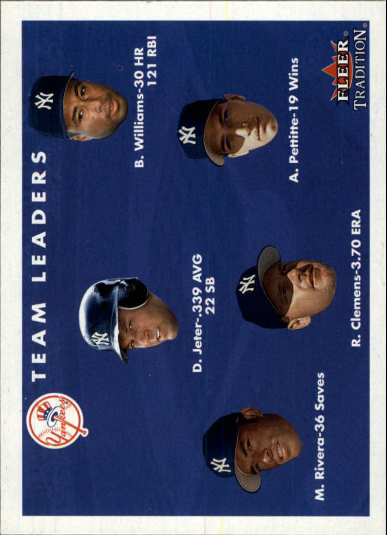 2001 Fleer Tradition #437 New York Yankees CL