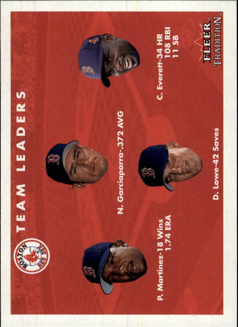 2001 Fleer Tradition #438 Boston Red Sox CL