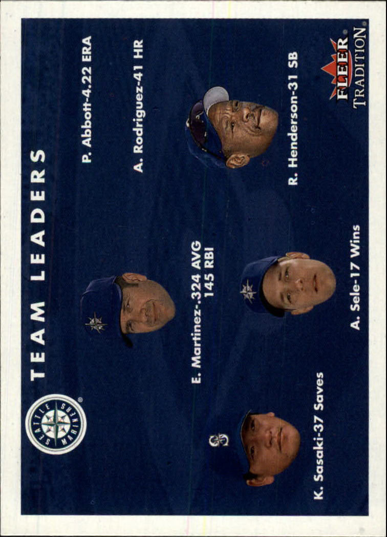 2001 Fleer Tradition #447 Seattle Mariners CL