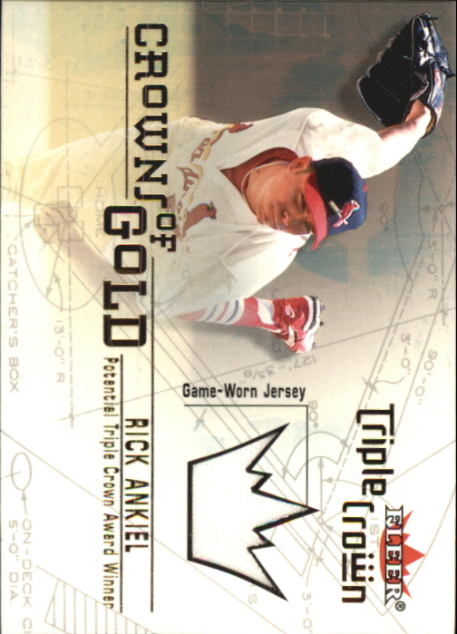 2001 Fleer Triple Crown Crowns of Gold Memorabilia #1 Rick Ankiel Jsy