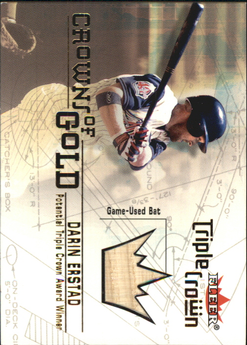 2001 Fleer Triple Crown Crowns of Gold Memorabilia #5 Darin Erstad Bat
