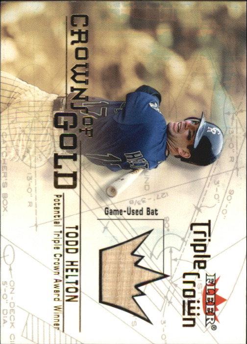 2001 Fleer Triple Crown Crowns of Gold Memorabilia #7 Todd Helton Bat