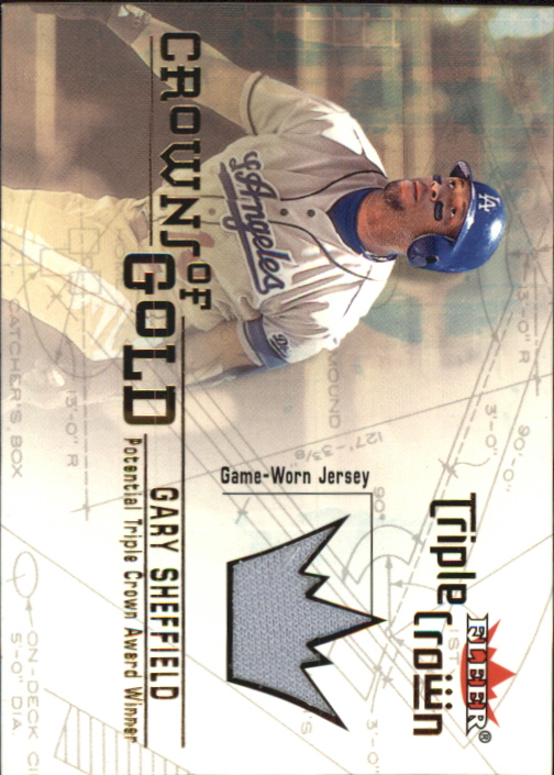 2001 Fleer Triple Crown Crowns of Gold Memorabilia #10 Gary Sheffield Jsy