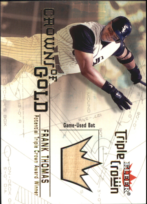2001 Fleer Triple Crown Crowns of Gold Memorabilia #11 Frank Thomas Bat