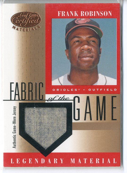 2001 Leaf Certified Materials Fabric of the Game #12BA Frank Robinson SP