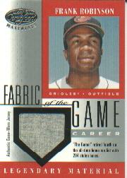 2001 Leaf Certified Materials Fabric of the Game #12CR Frank Robinson/72