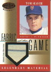 2001 Leaf Certified Materials Fabric of the Game #26BA Tom Seaver SP