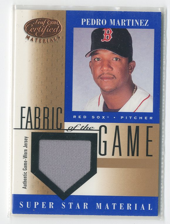 2001 Leaf Certified Materials Fabric of the Game #45BA Pedro Martinez