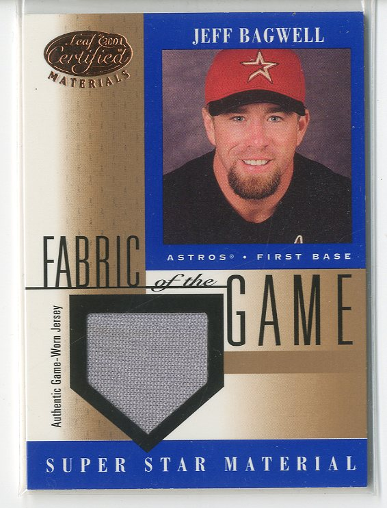 2001 Leaf Certified Materials Fabric of the Game #56BA Jeff Bagwell