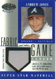 2001 Leaf Certified Materials Fabric of the Game #59CR Andruw Jones/272
