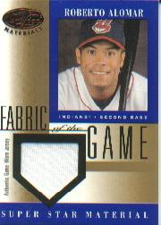 2001 Leaf Certified Materials Fabric of the Game #60BA Roberto Alomar