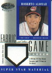 2001 Leaf Certified Materials Fabric of the Game #60CR Roberto Alomar/170