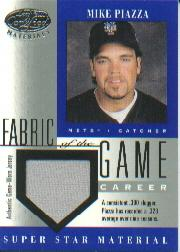 2001 Leaf Certified Materials Fabric of the Game #61CR Mike Piazza/328