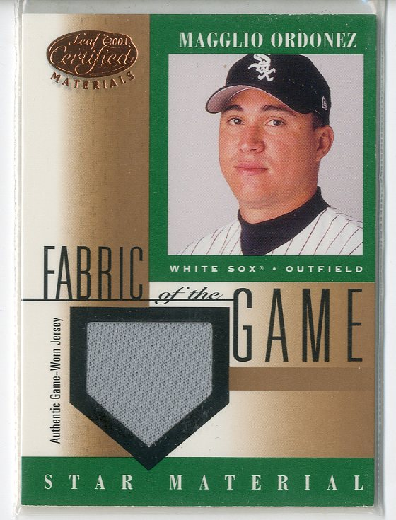 2001 Leaf Certified Materials Fabric of the Game #72BA Magglio Ordonez