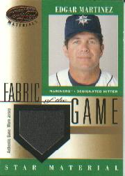 2001 Leaf Certified Materials Fabric of the Game #80BA Edgar Martinez