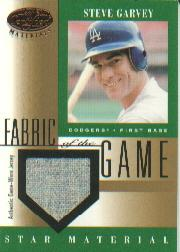 2001 Leaf Certified Materials Fabric of the Game #82BA Steve Garvey