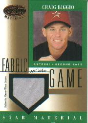 2001 Leaf Certified Materials Fabric of the Game #91BA Craig Biggio