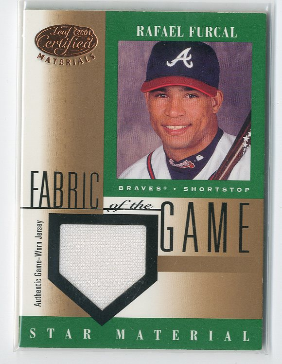 2001 Leaf Certified Materials Fabric of the Game #96BA Rafael Furcal