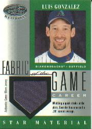 2001 Leaf Certified Materials Fabric of the Game #105CR Luis Gonzalez/281