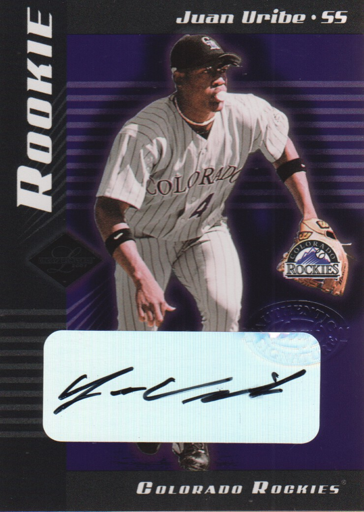 2001 Leaf Limited #306 Juan Uribe AU RC