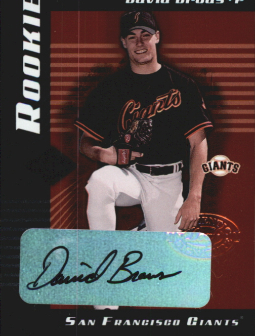 2001 Leaf Limited #317 David Brous AU/750 RC