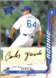 2001 Leaf Rookies and Stars Autographs #122 Carlos Garcia/250 *