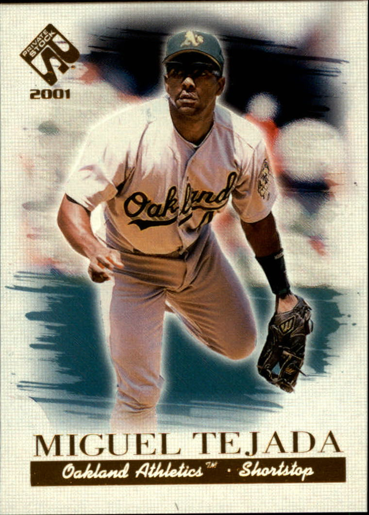 2001 Private Stock #87 Miguel Tejada