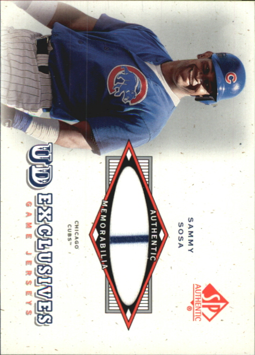 2001 SP Authentic UD Exclusives Game Jersey #SS Sammy Sosa