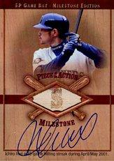 2001 SP Game Bat Milestone Piece of Action Autographs #SIS Ichiro Suzuki SP/53
