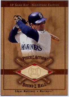 2001 SP Game Bat Milestone Piece of Action Bound for the Hall #BEM Edgar Martinez