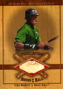 2001 SP Game Bat Milestone Piece of Action Bound for the Hall #BFM Fred McGriff