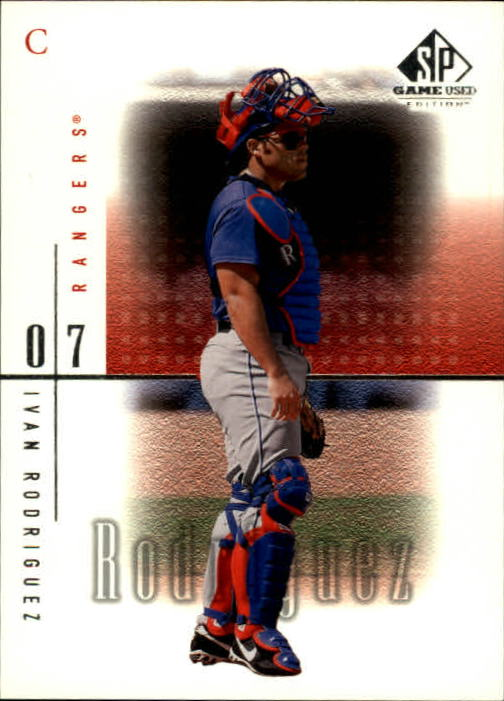 2001 SP Game Used Edition #17 Ivan Rodriguez