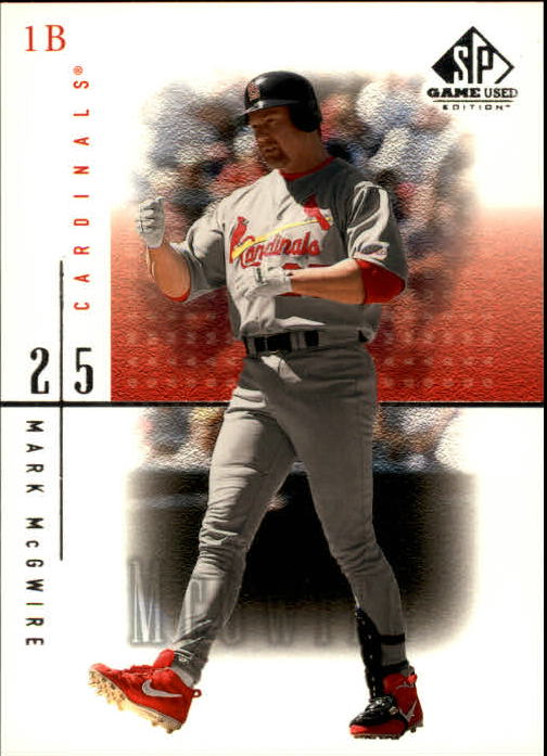 2001 SP Game Used Edition #36 Mark McGwire