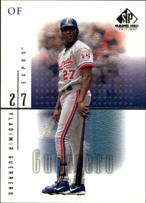 2001 SP Game Used Edition #45 Vladimir Guerrero