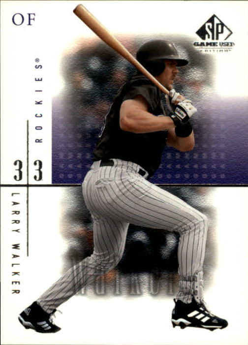 2001 SP Game Used Edition #60 Larry Walker