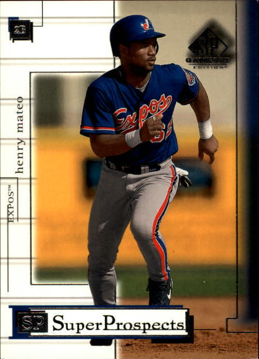 2001 SP Game Used Edition #86 Henry Mateo RC