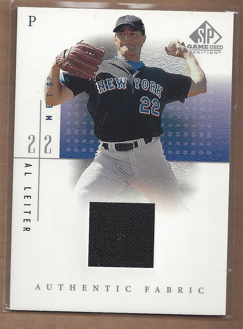 2001 SP Game Used Edition Authentic Fabric #AL Al Leiter