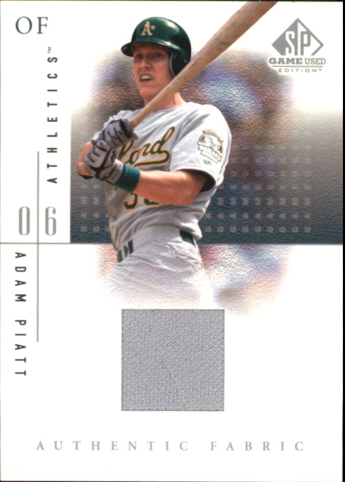 2001 SP Game Used Edition Authentic Fabric #AP Adam Piatt
